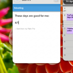 Multitasking between email and calendar