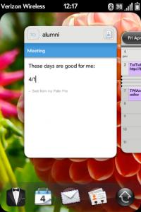 Multitasking between email and calendar
